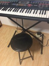 Casio CTK-401 Keyboard, stool, stand. Dual volt in Ramstein, Germany