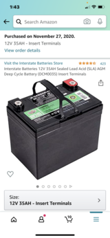 Car battery in Travis AFB, California