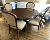 Solid wood dining table & chairs. in Cary, North Carolina
