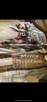 Christmas shower curtain in Fort Leonard Wood, Missouri