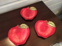 Set of 3 Apple Appetizer Plates from Sur la Table - Small Chips in Plainfield, Illinois