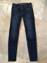 LIKE NEW American Eagle Outfitters Dark Wash Jeggins - Size 00 Regular in Plainfield, Illinois