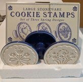 Set of 3 Stoneware Cookie Stamps in St. Charles, Illinois