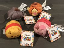 Disney Tsum Tsum Winnie the Pooh Mini Plush Set of 4 Brand New in Travis AFB, California