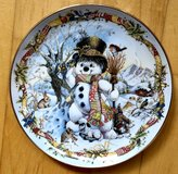 FRANKLIN MINT FROSTY THE SNOWMAN CHRISTMAS PLATE BY DAVID PARIS CRAIG EC LIMITED in Wiesbaden, GE