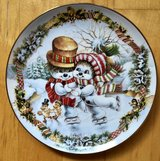 FRANKLIN MINT FROSTY'S SKATING PARTY CHRISTMAS PLATE BY DAVID PARIS CRAIG EC LIMITED in Wiesbaden, GE