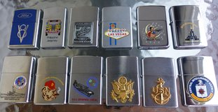 ZIPPO LIGHTERS COLLECTION (12) NEW, ALL UNFIRED in Wiesbaden, GE