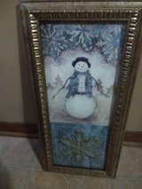 Snowman Framed picture in Naperville, Illinois