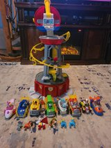 paw patrol super mighty pups tower & pups with vehicles in Cherry Point, North Carolina