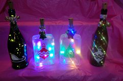 Lighted Christmas decorative bottles in Plainfield, Illinois
