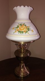 Brass with Handpainted Ruffled Milk Glass Sho in Tinley Park, Illinois