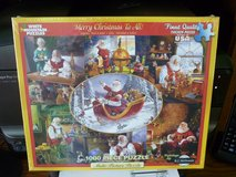 SEALED WHITE MOUNTAIN 1000 PC JIGSAW PUZZLE MERRY CHRISTMAS TO ALL in Bartlett, Illinois