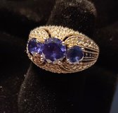Tanzanite 2 ct w/ Diamonds 1 ct Sterling Silver Ring in Clarksville, Tennessee