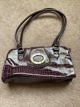 Purple faux reptile texture purse in Plainfield, Illinois