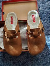 Ladies Union Bay Chestnut (Tan) Clogs Fur Lined in Fort Riley, Kansas