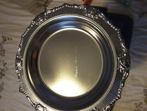9 inch silver Christmas plate/tray in Kingwood, Texas