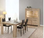 United Furniture - Elba Dining Set - China + Table + Chairs + Delivery in Wiesbaden, GE