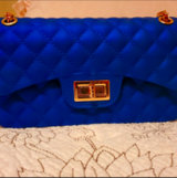 Lux Blue Chain Purse in Tomball, Texas