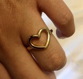 Sterling Silver Gold Tone Heart Ring in Okinawa, Japan