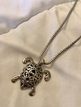 Sterling Silver Sea Turtle Pendant Necklace in Okinawa, Japan