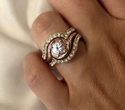 Sterling Silver Cubic Zirconia Ring Set in Okinawa, Japan
