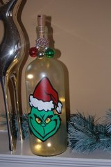 Lighted Grinch wine bottle in Naperville, Illinois