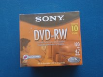 NEW SONY 10 PACK OF DVD -RW DISCS in Plainfield, Illinois