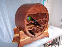RED CEDAR WINE RACK  AND OAK WINE RACK in Cherry Point, North Carolina