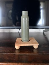 Large Bullet planter with solid maple stand in Okinawa, Japan