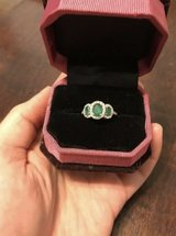 3 stone genuine emerald ring in Fairfield, California