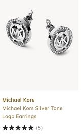 New Michael Kors Silver Logo Earrings, CLIP Studs in Clarksville, Tennessee