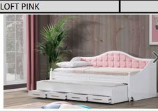 United Furniture - Day Bed Loft in Pink or Gray including Mattresses and Delivery- in Grafenwoehr, GE