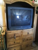 Rustic Cabinet can be used to conceal TV or for storage space. in 29 Palms, California