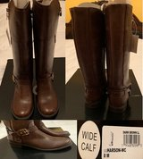 BRAND NEW HARSON BOOTS DARK BROWN WIDE CALF SIZE 8M FROM MACYS NEW IN BOX. COMPARE AT MACYS http... in Plainfield, Illinois