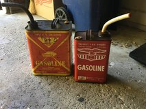 Antique gas cans in St. Charles, Illinois