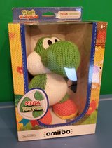 MEGA YARN YOSHI AMIIBO. MINT IN BOX. IST EDITION. TOYS R US EXCLUSIVE. NEVER OPENED RARE COLLECT... in Plainfield, Illinois