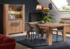 United Furniture - Izzy Dining Set includes - China - Exstension Table - 4 Chairs - Delivery in Grafenwoehr, GE