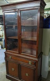Antique solid wood China cabinet hutch in Tomball, Texas