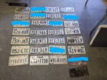 License plates - $4 each - great for rustic mancave decor signs projects in Tomball, Texas