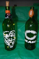 Lighted Decorative Chicago Bears wine bottles in St. Charles, Illinois