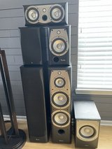 Infinity Alpha 20 Bookshelf speakers and Center Channel in Plainfield, Illinois