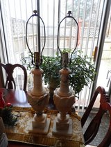 2 CARVED MARBLE LAMPS (shade not incl.) in Cherry Point, North Carolina