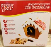 New Companion Gear Gingerbread House Cat Scratcher, for small & medium cats in Aurora, Illinois
