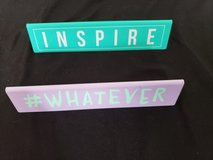 Inspire/#Whatever desk name plates in Plainfield, Illinois