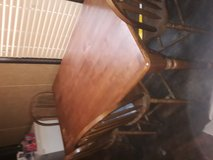 solid wood table and 6 chairs in Leesville, Louisiana