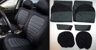 New! Winplus Wetsuit Car Seat Covers 6pc Set in Bolingbrook, Illinois