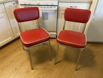 Red Retro Chairs in Yucca Valley, California