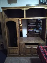 solid oak tv cabinet in Yucca Valley, California