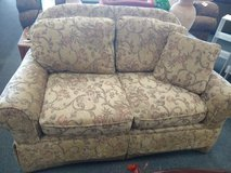 Taupe Muted Print Loveseat in St. Charles, Illinois