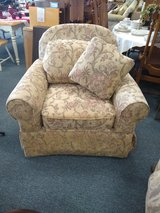 Taupe Muted Print Chair in St. Charles, Illinois